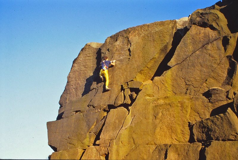 Rock Climbing Photo: Soloing at Ilkley Quarry back in the 80s
