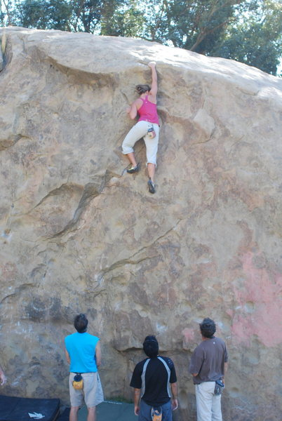 Rock Climbing Photo: Parker and the finishing moves.