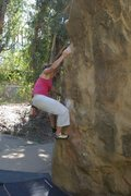Rock Climbing Photo: Parker on the opening moves, shared by Crowd Pleas...