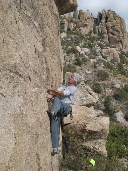 Rock Climbing Photo: Jimbo working it.