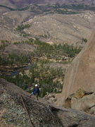 Rock Climbing Photo: Top of the fourth pitch on Fractured Fairytales.  ...