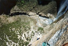 Rock Climbing Photo: The view from pitch 2 of the Lost Arrow Tip, Yosem...