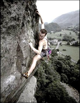 Rock Climbing Photo: James McHaffie on the final pitch. Photo Dave Will...