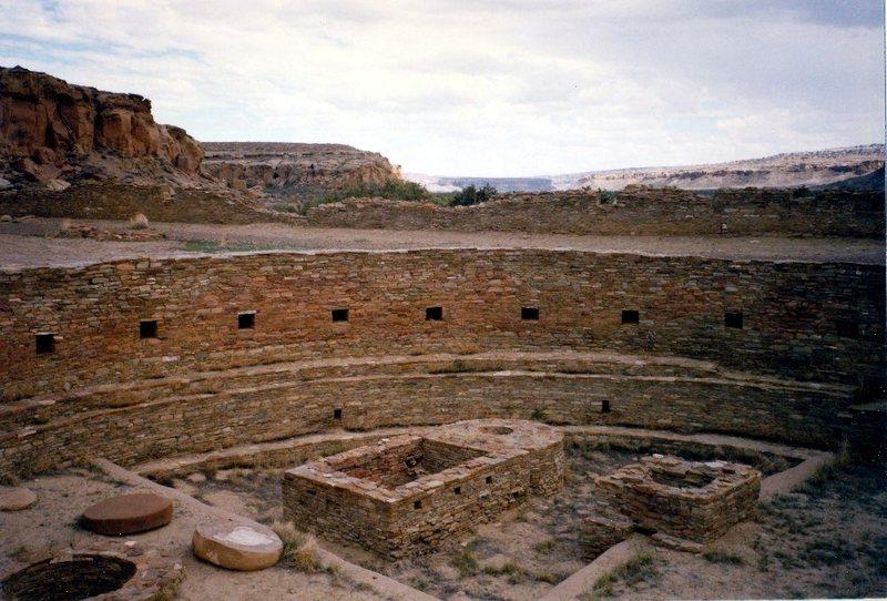 Rock Climbing Photo: The Great Kiva of Chetro Ketl, Chaco Canyon