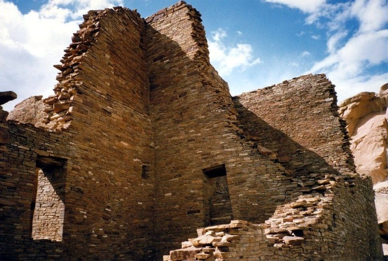 Ancient ruins at Chaco Canyon, NM