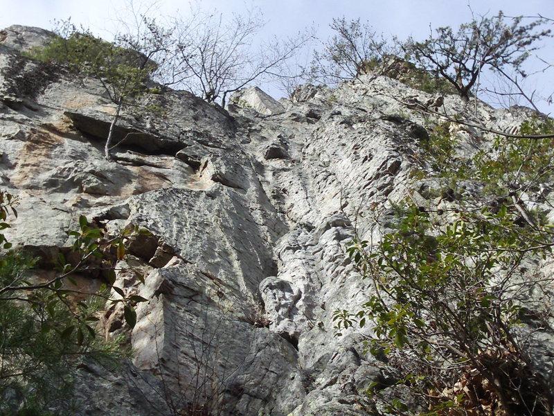 "Rock Climbing Photo: Start of ""A Christians Delight"""