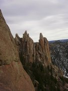 Rock Climbing Photo: From the Block Tower.