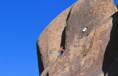 Rock Climbing Photo: John Jenkins following Stairway to Kevin (5.8), Jo...