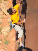 Rock Climbing Photo: Nearing the nice resting pod in the middle of the ...