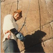 Rock Climbing Photo: Your humble correspondent in the late 1970's at th...