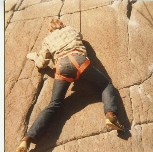 Rock Climbing Photo: Late 1970's - Cosmic Curt Lee on Number 6 Direct