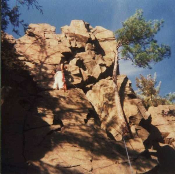 Rock Climbing Photo: Veggie Pro & Painters Pants. Quite Trad. Late 1970...