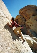 Rock Climbing Photo: Moving past the 1st bolt on Quick Draw McGraw (5.1...