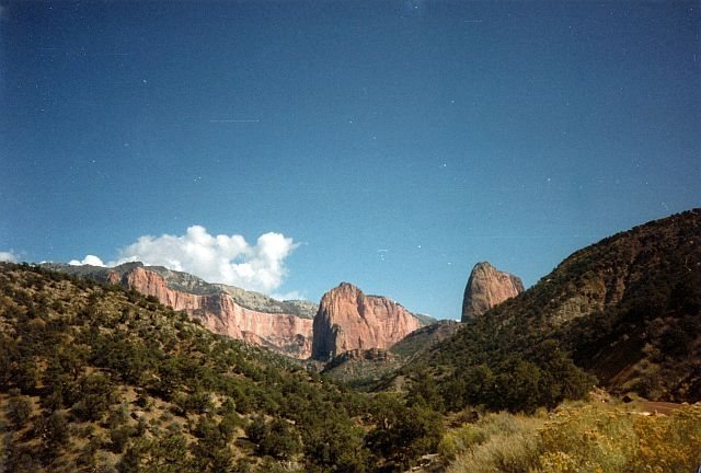 Rock Climbing Photo: The first view of Kolob Canyon from the road, Zion...