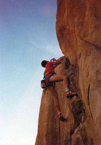 Rock Climbing Photo: Dimp for a Chimp (5.11a), Joshua Tree NP  Photo ...