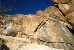 Rock Climbing Photo: Native rock art in Keyhole Canyon, NV