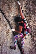 Rock Climbing Photo: Neil Cannon looking stylish on Fallen Arches (5.13...