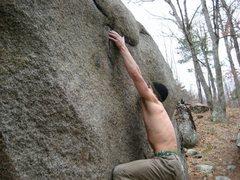 Rock Climbing Photo: Ben starting the crux.