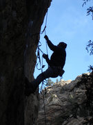 Rock Climbing Photo: Luke Childers working the old aid techniques while...