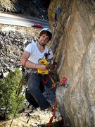 Rock Climbing Photo: Caught here in a drilling frenzy the ever enthusia...