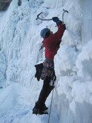 Rock Climbing Photo: John Ross starting out on White Nightmare.