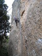 "Rock Climbing Photo: Cruising up ""6a+""."