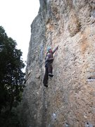 Rock Climbing Photo: Just above the opening crux of Perepunyetes.
