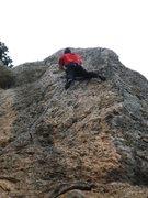 Rock Climbing Photo: The steep, juggy finish.