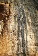 Rock Climbing Photo: El Sistema climbs in from the left then follows th...