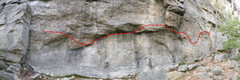 Rock Climbing Photo: The Kama Sutra Traverse (V3) traverses the cliff f...