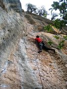 "Rock Climbing Photo: Enjoying the brilliant ""Magrana""."