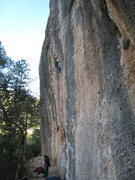 Rock Climbing Photo: Montgronyeta climbs a long, vertical wall of aweso...