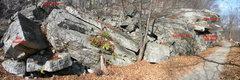 Rock Climbing Photo: The Nameless area boulders