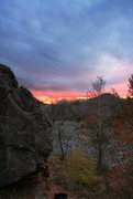 Rock Climbing Photo: Watching the sunset after a great day of boulderin...