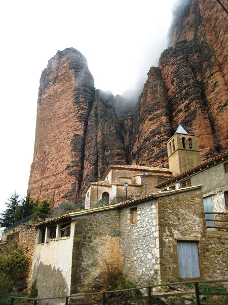 Rock Climbing Photo: The tiny village of Riglos features enormous walls...