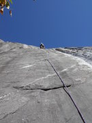 Rock Climbing Photo: Pitch 2 (from ground) or pitch 1 from traverse in ...