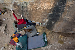 Rock Climbing Photo: Page on the steep arete