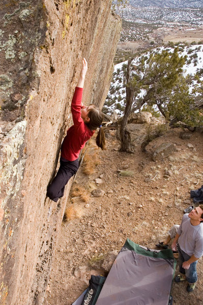 Rock Climbing Photo: and Page's little fingers making the crux look qui...