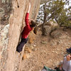 and Page's little fingers making the crux look quite easy