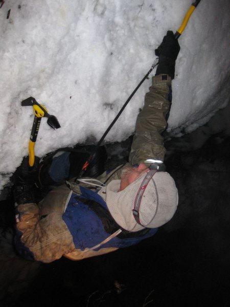 Rock Climbing Photo: night ice