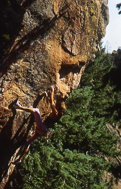 Rock Climbing Photo: Colin Lantz FA Superfresh, 1989.