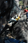 Rock Climbing Photo: Chris E making his way to the top of Pinball Simul...