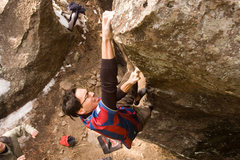 Rock Climbing Photo: Nearing the top trying to not become the Pinball. ...