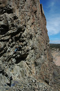 Rock Climbing Photo: Ian Mcmillan on the 2nd ascent working through coo...