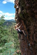 Rock Climbing Photo: Jenna nearing the anchors where the holds finally ...