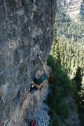 Rock Climbing Photo: Page gazing up at the nice, long face that finishe...