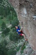 Rock Climbing Photo: Matthew NM on the jugs just past the lower crux of...