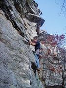 Rock Climbing Photo: starting up 2nd pitch Looks like a weekend...