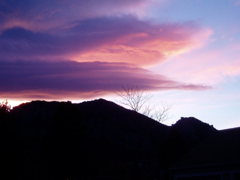 Rock Climbing Photo: Sunset over Bear Peak.