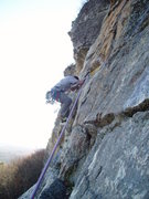 Rock Climbing Photo: 2nd(or 3rd)  pitch crux